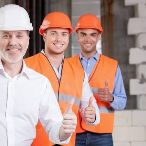 Workers group photo